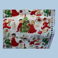 Christmas Morning  Cotton Fabric 1 1/2 yard