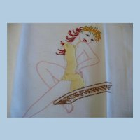 Applique Embroidered Girly Towel