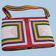 Multi color Telephone Wire Purse