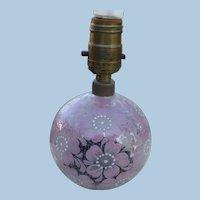 Czech Glass Boudoir Lamp