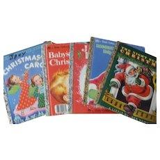 Five Vintage Xmas Golden Books