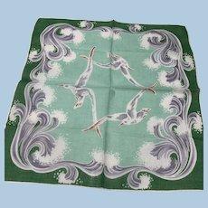 Flying Seagulls Handkerchief