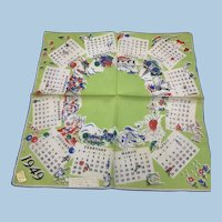 1949 Calendar Handkerchief