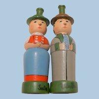 Wood Man & Woman Salt & Pepper