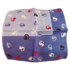 Stylized S Handkerchief