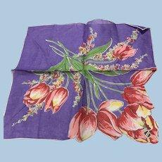 Cotton Tulips Handkerchief