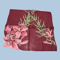 Lilies Cotton Handkerchief