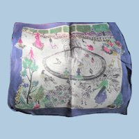 Paris Canal Scene Handkerchief Francoise Durieux