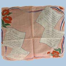 America Verses Handkerchief