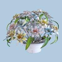 Tole Metal Floral Centerpiece