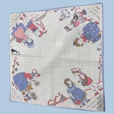 Children's Nursery Rhyme Handkerchief