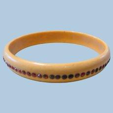 Child's Celluloid Rhinestone Bracelet