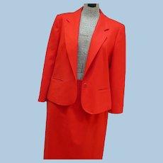 Red Wool Pendleton Suit size 16