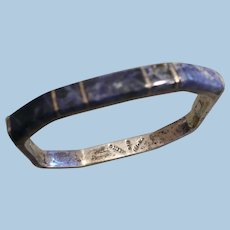 Mexico Silver Lapis Bracelet