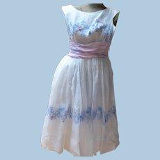 1959's White Organdy Dress