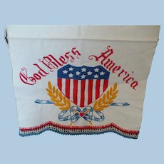 God Bless America Hand Embroidered Towel