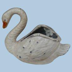 Cast Iron Open Swan Figurine
