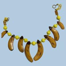 Bakelite Beaded Banana Necklace