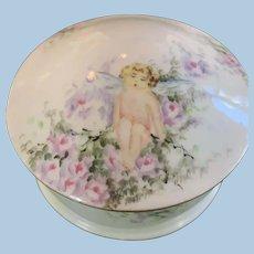 Porcelain Powder Box O & E Austria