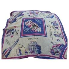 New York Souvenir Landmarks Handkerchief