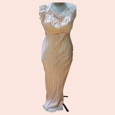 Long Peach Nightgown