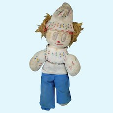 Handmade Sockinette Boy Doll