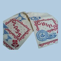 Glass China Hand Embroidered Towels