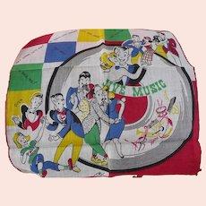 1950's Music Rock n Roll Handkerchief