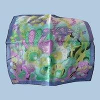 Vintage Cotton  Fish Handkerchief