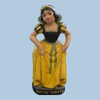 Chalkware Snow White Figurine