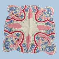 Floral Hat & Hatbox  Handkerchief