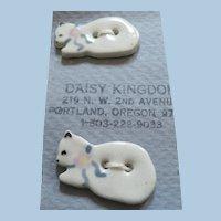 Set of 4 Porcelain Cat Buttons
