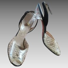 Vinyl & Lucite Heel Vintage Shoes