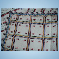 Woven Folk Art Tablecloth