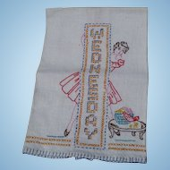 Wednesday Embroidered Towel