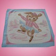 Ice Skating Bunny Handkerchief