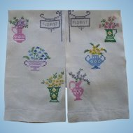 Embroidered Florist Towels