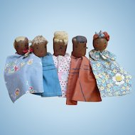 Folk Art Wood Puppets