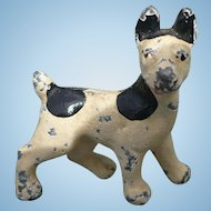Miniature Hubley Cast Iron Terrier Dog