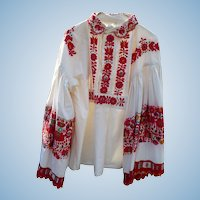 Matyo Kalocsa Hungarian Embroidered Shirt Vintage
