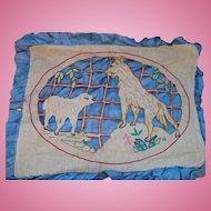 Cutwork Wolf & Lamb Embroidery