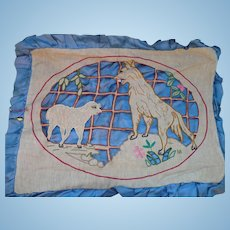 Cutwork Wolf & Lamb Embroidery