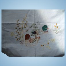 Embroidered Duck Family Cloth