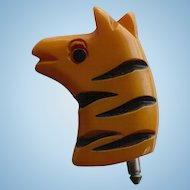 Bakelite Zebra Stud Button