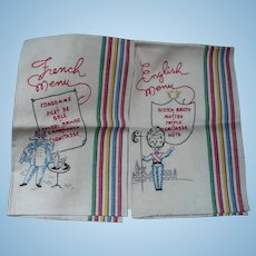 Embroidered English French Towels