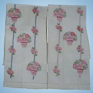Floral Embroidered  Guest Towels