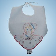Hand Embroidered Baby Bib