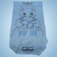 Kitten Embroidered Doll