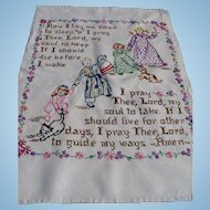 Lords Prayer Embroidered Textile