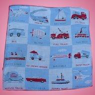 Transportation Child's Handkerchief